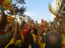 GRAN VIA: 11. September 2014 demonstrerte rundt to millioner for Catalonias selvstendighet. Foto: Simen Østad